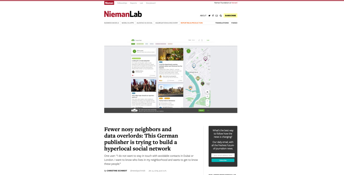 Interview with Nieman Journalism Lab